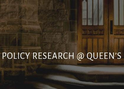 Policy research at Queen's image